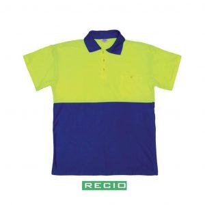 1PCB3 polo coordinado azul amarillo, bolsillo, jardinería económico